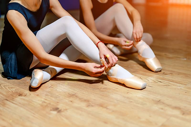 Preparing for private ballet class